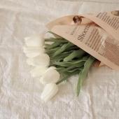 Morning mood 🌷@pinterest  .   #fleurs #flowers #tulipes #tulips #blanc #white #mood #morning #hello #bonjour #soft #aesthetic #aesthetic #green #love