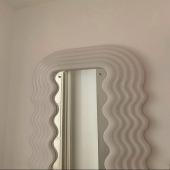 Tonight's crave ☁️ @espace.empty   .  #miroir #mirror #waves #blanc #white #whitemirror #deco #interiordesign #homedeco #homeinspo #interiordesign #interiorinspiration #goodnight #home #homedecor