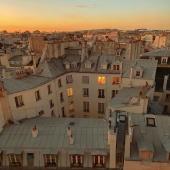 Toits de Paris + coucher de soleil 🌇 @pinterest
